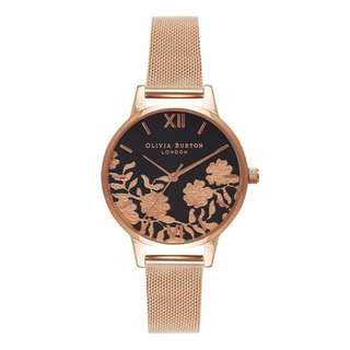 英國品牌 Olivia Burton London Watch 魔法花園 氣質百搭 女 手錶 真皮錶帶 花鳥蝴蝶 (OB60)
