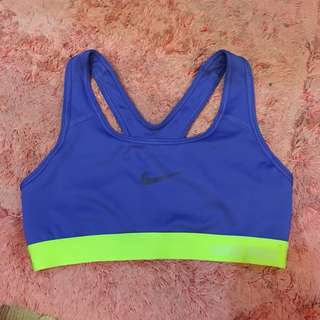 Preloved Auth Nike Sports Bra Neon