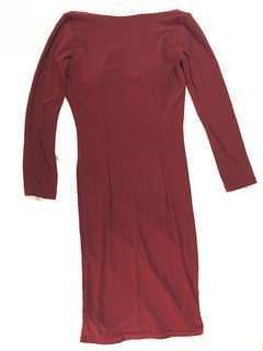 Lowback customed midi dress with padding
