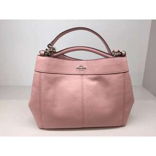AUTHENTIC COACH LEXY IN PEBBLE LEATHER