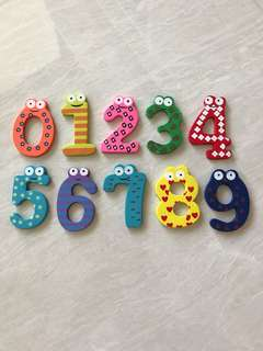 Learning Toy - Magnetic Wooden Numbers