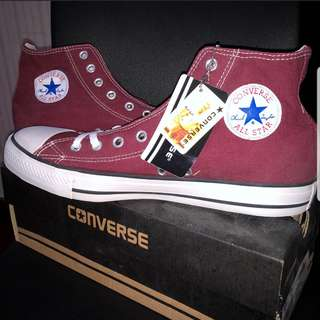 Converse high tops maroon