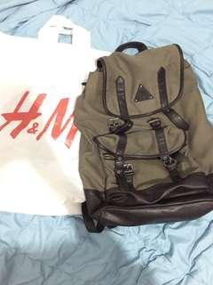 Tas Backpack H&M Brown Original