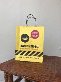 Paper bag Irvins Salted Egg Fish Chips