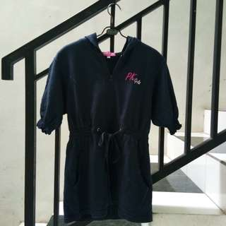 #maudecay Pink JJ short sleeve navy jacket