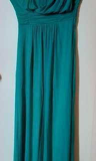 Pre-Loved Long Formal Dress-Blue Green