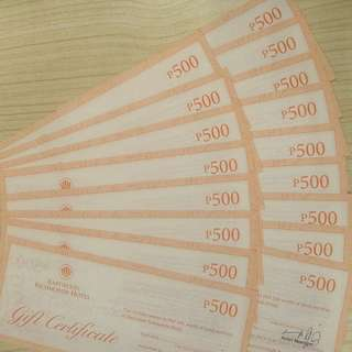Eastwood Richmonde Hotel Gift Checks