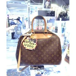 LV Louis Vuitton Brown Monogram Travel Shoulder Handbag Hand Bag 路易威登 啡色 LV花 老花 旅行袋 手挽袋 手袋 肩袋 袋