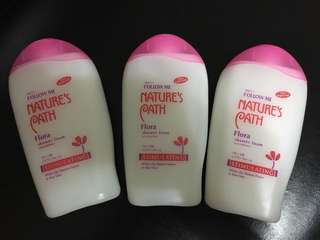 3 bottle of Nature's Path Flora Shower Foam