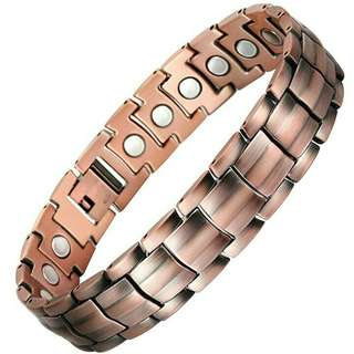 Mens Pure Copper Magnetic Bracelet