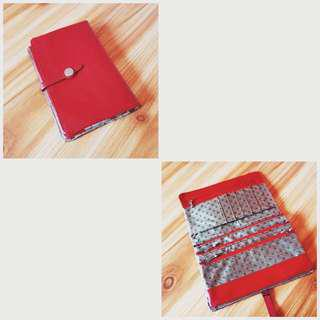 Red Wallet For Phone, Cards, Coin.