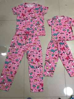 Terno mother and daughter pajama