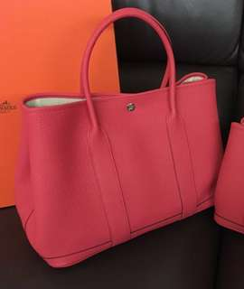 Hermes Garden Party 36 in Bougainvillier (with receipt) Hermes GP手袋杜鵑紅色 (有單)