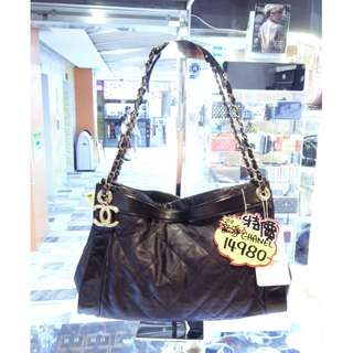 Chanel CC Logo Black Leather Chain Shoulder Handbag Hand Bag 香奈兒 黑色 皮革 真皮 鍊袋 手挽袋 手袋 肩袋 袋