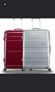 Brand new Purple American Tourister Caravan 70cm TSA luggage