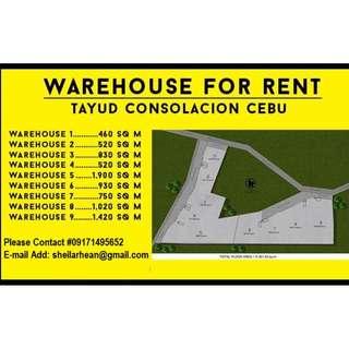 WAREHOUSE FOR RENT TAYUD CONSOLACION CEBU