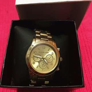 MK gold watch inspired