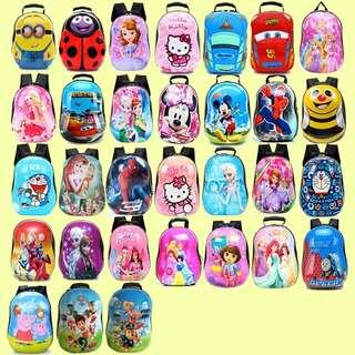 Tas Sekolah Anak Karakter lucu dan Imut Ransel PVC