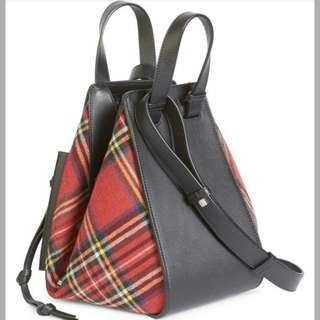 Loewe Hammock Tartan  Medium 2way- bag