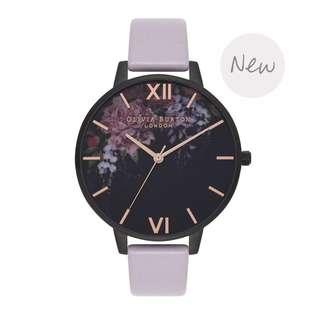 英國品牌 Olivia Burton London Watch 魔法花園 氣質百搭 女 手錶 真皮錶帶 花鳥蝴蝶 38mm (OB070)