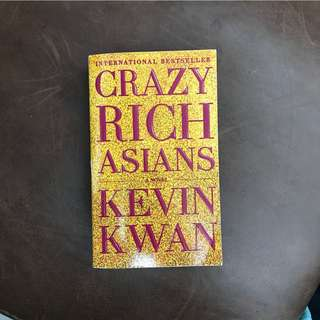 🚚 Crazy Rich Asians by Kevin Kwan - used, read through once (highly recommended novel)