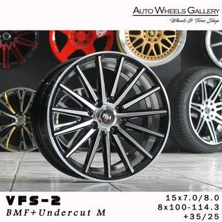 VOSSEN VFS-2 RING 15X7.0 HOLE 8X100-114,3 ET40