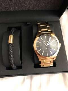 Armani Exchange Watch/leather bracelet