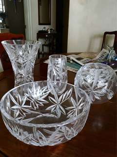 Crystal/ Crystalware 4-piece set