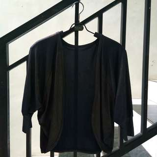 #maudecay black outer cardigan