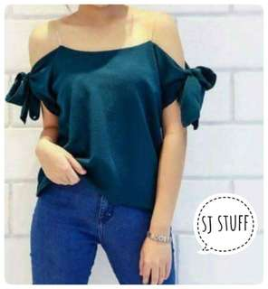 Affordable Off Shoulder Spaghetti Strap Tops Blouse