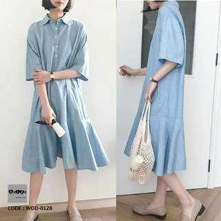 Nursing Dress Button Down WDD-0128