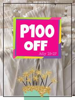 My Birthday Promo!!! P100 OFF