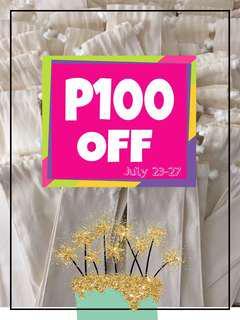My Birthday Promo!!! P100 OFF