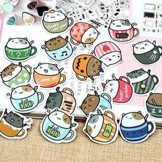 Cafe kittens DIY Planner Cards Dairy Stickers