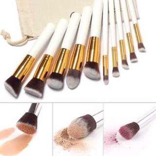 White Makeup Brushes