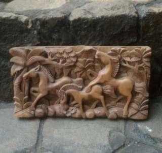 Pajangan Lukis Kayu Ukir Bali 3 Kuda