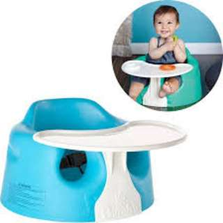 Bumbo baby seat with tray