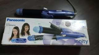Preowned Panasonic EH1575A ion styling IRON for straightening & curling