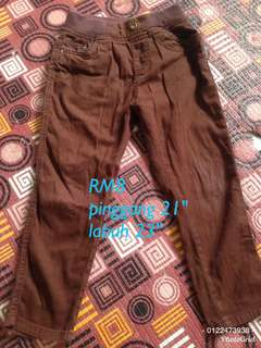 Seluar pants brown
