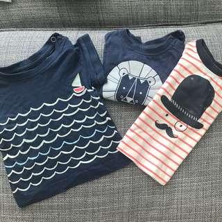 Set of three t-shirts