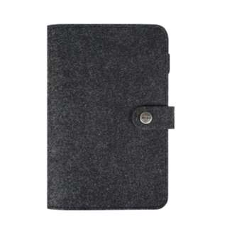A5 6-Hole Ring Notebook - Black