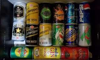 15 個可樂汽水啤酒罐