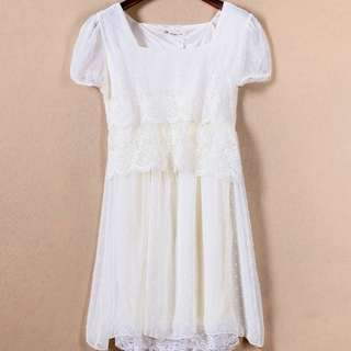 Sale❗️Brand New Ivory Lace Dress 全新米色厘士連身裙