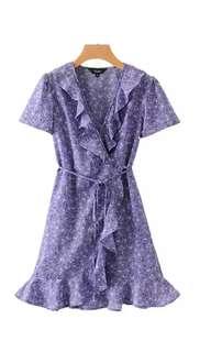 Lavander Ruffles Dress