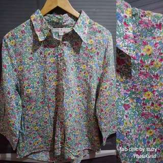 Tommy Buttondown Floral Top