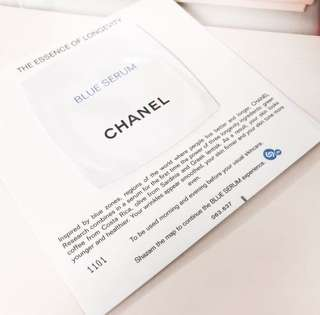 Chanel blue serum deluxe sample • authentic skincare