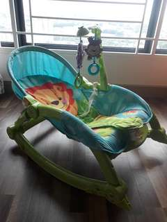 Baby-toddler rocker and seat
