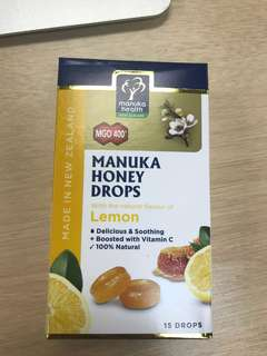 Manuka Honey drops lemon 15 pack 65g