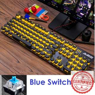 🚚 BNIB Mechanical Yellow Gaming Keyboard (Blue Switch)