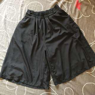 🚚 衣物👗黑色七分雪紡寬褲